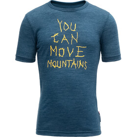 Devold Moving Mountain - Camiseta manga corta Niños - azul